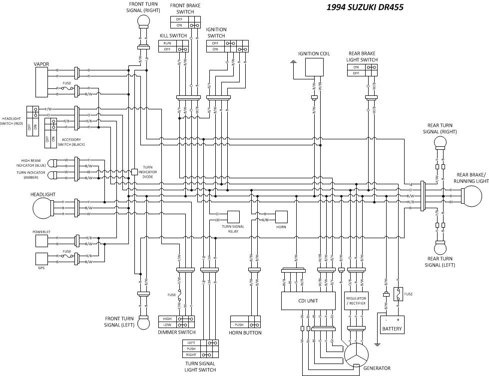 distech's dr350 rebuild page 15 adventure rider on Raptor 350 Wiring Diagram for dr350 wiring diagram #17 at suzuki dr350 wiring diagram